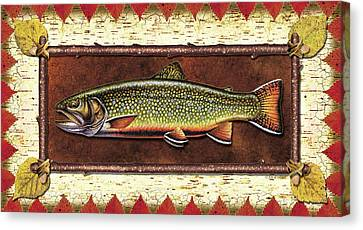 Brook Trout Lodge Canvas Print by JQ Licensing
