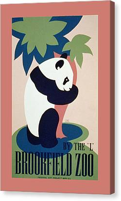 Brookfield Zoo Panda Canvas Print by Unknown