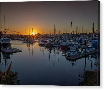 Brookings Harbor At Sunset Canvas Print by Michele James