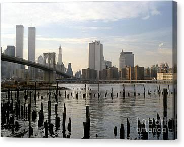 Brooklyn Bridge 1980's Canvas Print by Mark Gilman