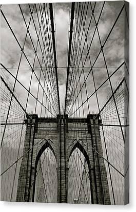 Brooklyn Bridge Canvas Print by Adrian Hopkins