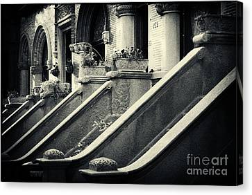 Brooklyn Park Slope Stoops Canvas Print by Sabine Jacobs