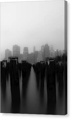 Brooklyn Pilings Canvas Print by Jose Vazquez