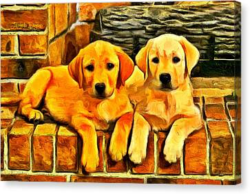 Brothers - Da Canvas Print by Leonardo Digenio