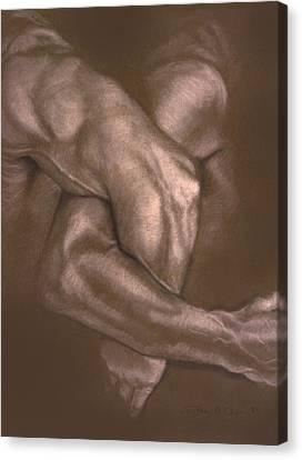 Brown Series Vi Canvas Print by John Clum