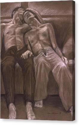 Brown Series Xvi Canvas Print by John Clum