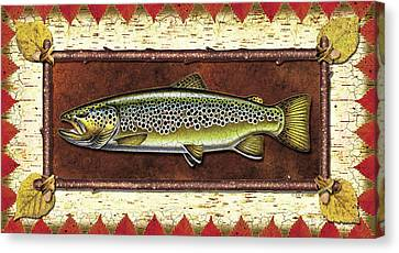 Brown Trout Lodge Canvas Print by JQ Licensing