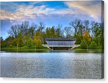 Brownsville Covered Bridge Canvas Print by Jack R Perry