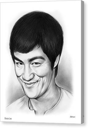 Bruce Lee Canvas Print by Greg Joens