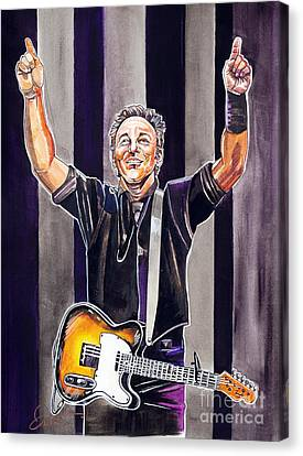 Bruce Springsteen Canvas Print by Dave Olsen