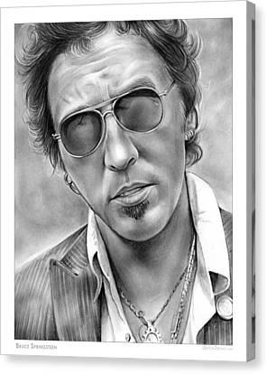 Bruce Springsteen Canvas Print by Greg Joens