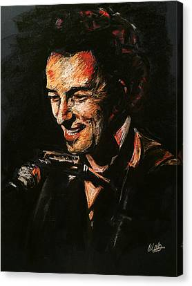 Bruce Springsteen Canvas Print by Melissa O'Brien