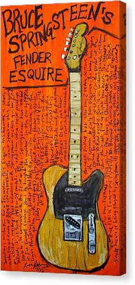 Bruce Springsteen's Fender Esquire Canvas Print by Karl Haglund