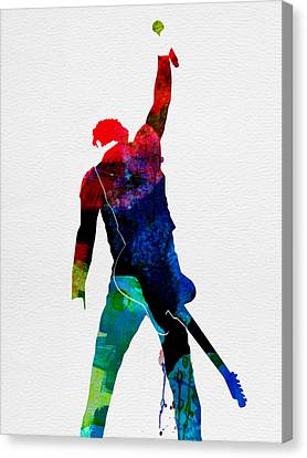 Bruce Watercolor Canvas Print by Naxart Studio