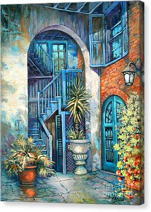 Brulatour Courtyard Canvas Print by Dianne Parks