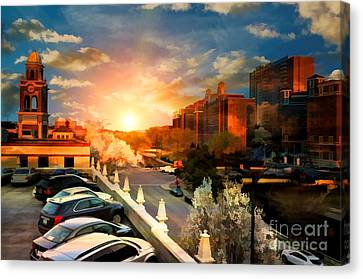 Brush Creek Kansas City Missouri Canvas Print by Liane Wright