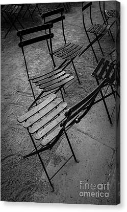 Bryant Park Chairs Nyc Canvas Print by Edward Fielding