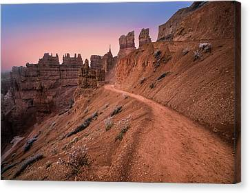 Bryce Canyon Sunset Canvas Print by Larry Marshall