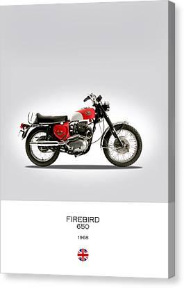 Bsa Firebird 650 Canvas Print by Mark Rogan