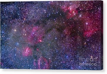 Bubble Nebula And Cave Nebula Mosaic Canvas Print by Alan Dyer