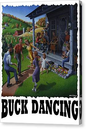 Buck Dancing - Mountain Dancing Canvas Print by Walt Curlee