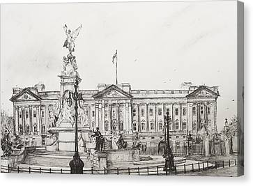 Buckingham Palace Canvas Print by Vincent Alexander Booth