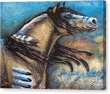 Buckskin Bell Blues Canvas Print by Jonelle T McCoy