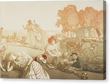 Bucolique Moderne Canvas Print by Auguste Lepere