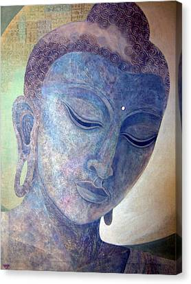 Buddha Alive In Stone Canvas Print by Jennifer Baird