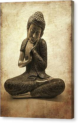 Buddha Lotus Canvas Print by Madeleine Forsberg