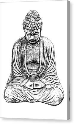 Buddha Sketch Canvas Print by Jim Dollar