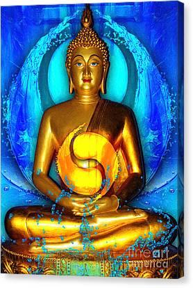 Buddha Yin Yang Canvas Print by Khalil Houri