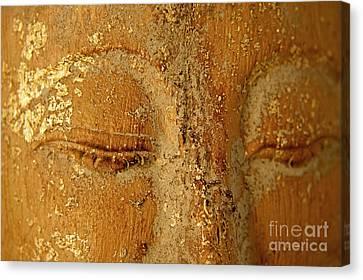 Buddha's Eyes Canvas Print by Julia Hiebaum