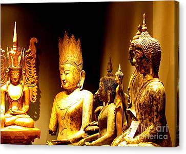 Buddhas Canvas Print by Ranjini Kandasamy