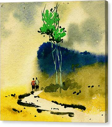 Buddies Canvas Print by Anil Nene