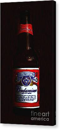 Budweiser - King Of Beers Canvas Print by Wingsdomain Art and Photography