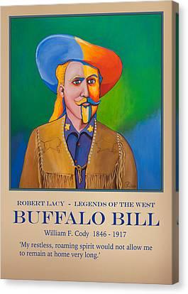 Buffalo Bill Poster Canvas Print by Robert Lacy