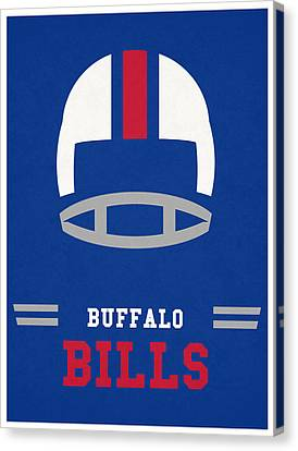 Buffalo Bills Vintage Art Canvas Print by Joe Hamilton