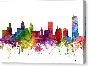 Buffalo Cityscape 06 Canvas Print by Aged Pixel