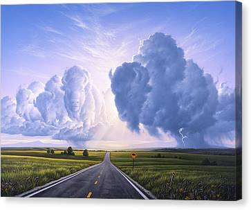 Buffalo Crossing Canvas Print by Jerry LoFaro