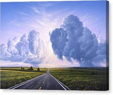 Buffalo Crossing Canvas Print by Jerry LoFaro