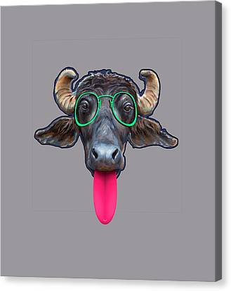 Buffalo Eewing Canvas Print by Sandy