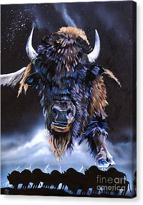 Buffalo Medicine Canvas Print by J W Baker