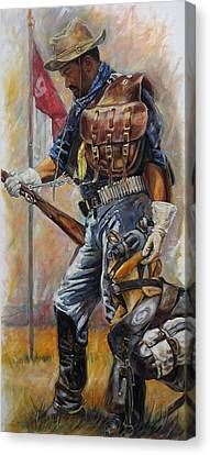 Buffalo Soldier Outfitted Canvas Print by Harvie Brown