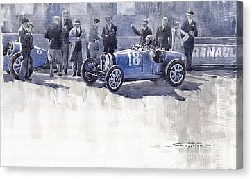 Bugatti 35c Monaco Gp 1930 Louis Chiron  Canvas Print by Yuriy  Shevchuk
