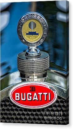 Bugatti Car Emblem Canvas Print by Adrian Evans