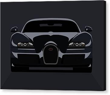 Bugatti Veyron Dark Canvas Print by Michael Tompsett