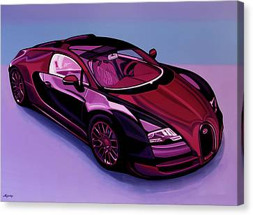 Bugatti Veyron 2005 Painting Canvas Print by Paul Meijering