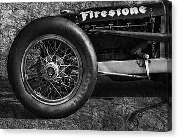 Buick Shafer 8 Bw Canvas Print by Peter Chilelli