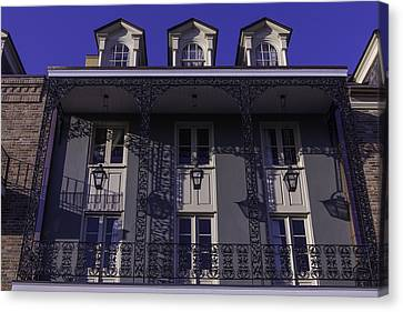 Building Shadows French Quarter Canvas Print by Garry Gay